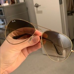 Authentic Brown Faded Raybans